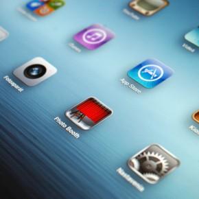 Detail na Retina displej nového iPadu.
