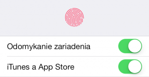 Recenzia iPhone 5S odtlacok