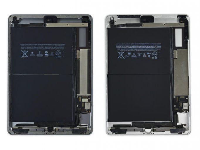Porovnanie iPad Air vs. New iPad (zdroj: ifixit.com)