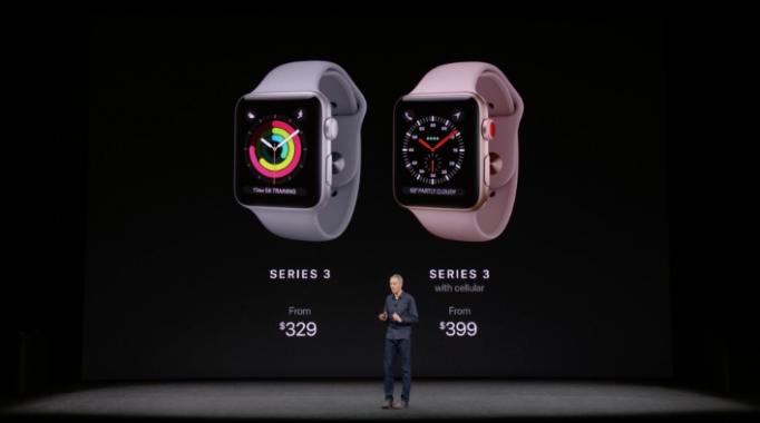 Ceny pre nové Apple Watch Series 3.